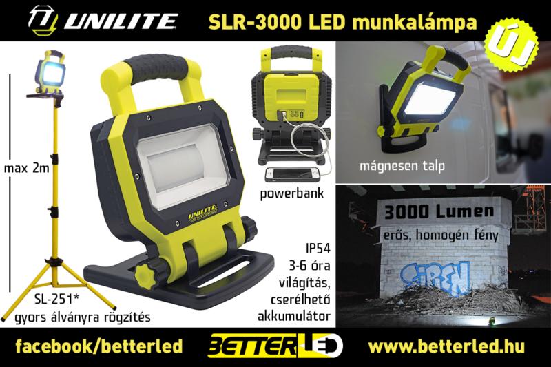 UNILITE SLR-3000 munkaterület megvilágító led lámpa