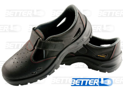 védőlábbeli-szandál munkavédelmi cipő, bőr szandál, orrmerevítővel, akciós munkavédelmi szandál, lélegző bőr felsőrésszel, acél orrmerevítővel. Panda S1 SRC