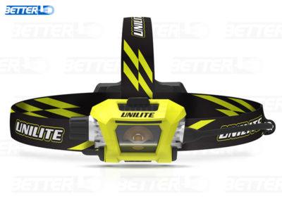 UNILITE PS-HDL9R LED fejlámpa hátul piros fénnyel, éjszakai munkához, vagy kerékpározáshoz, sportoláshoz