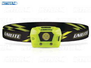 Unilite HL4R USB csatlakozón keresztül tölthető Li-ion akkumulátoros sisakra is szerelhető fejlámpa