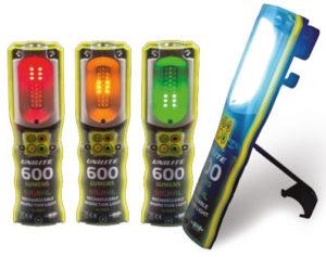 UNILITE LED munkalámpa, USB töltés, színes led fény, forgalomirányító lámpa, vészjelző led lámpa