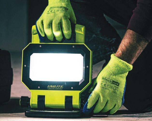 UNILITE SLR-3000 akkumulátoros, ipari, munkaterület megvilágító LED lámpa
